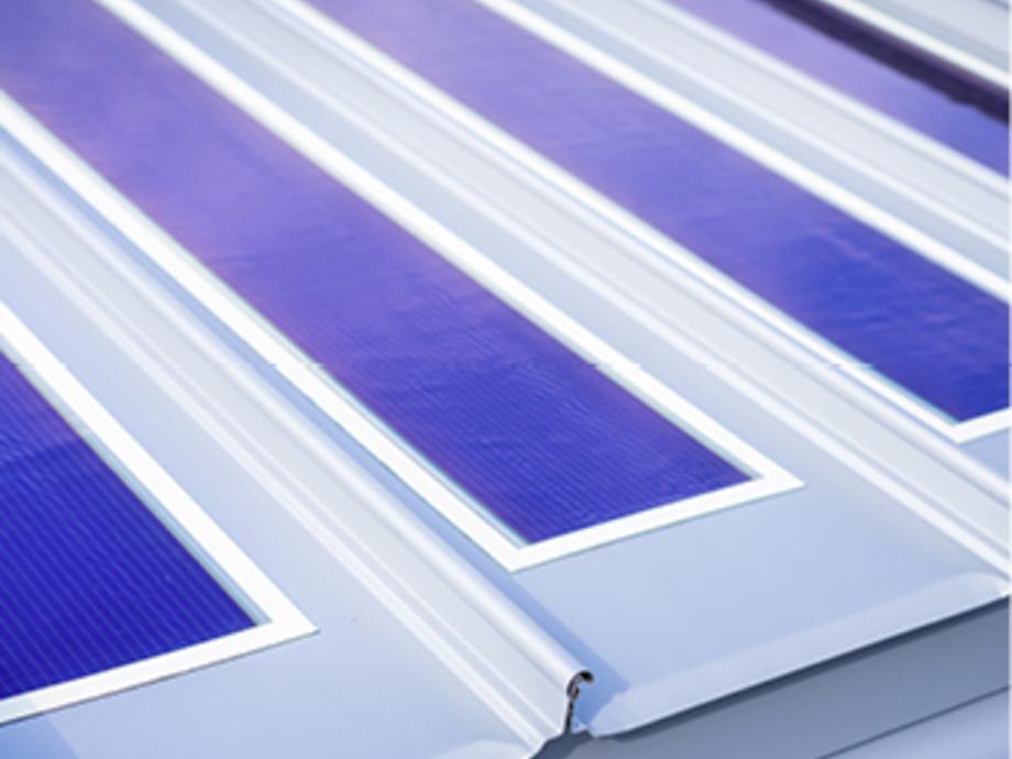 Integriert Auf Dem Metalldach Photovoltaik